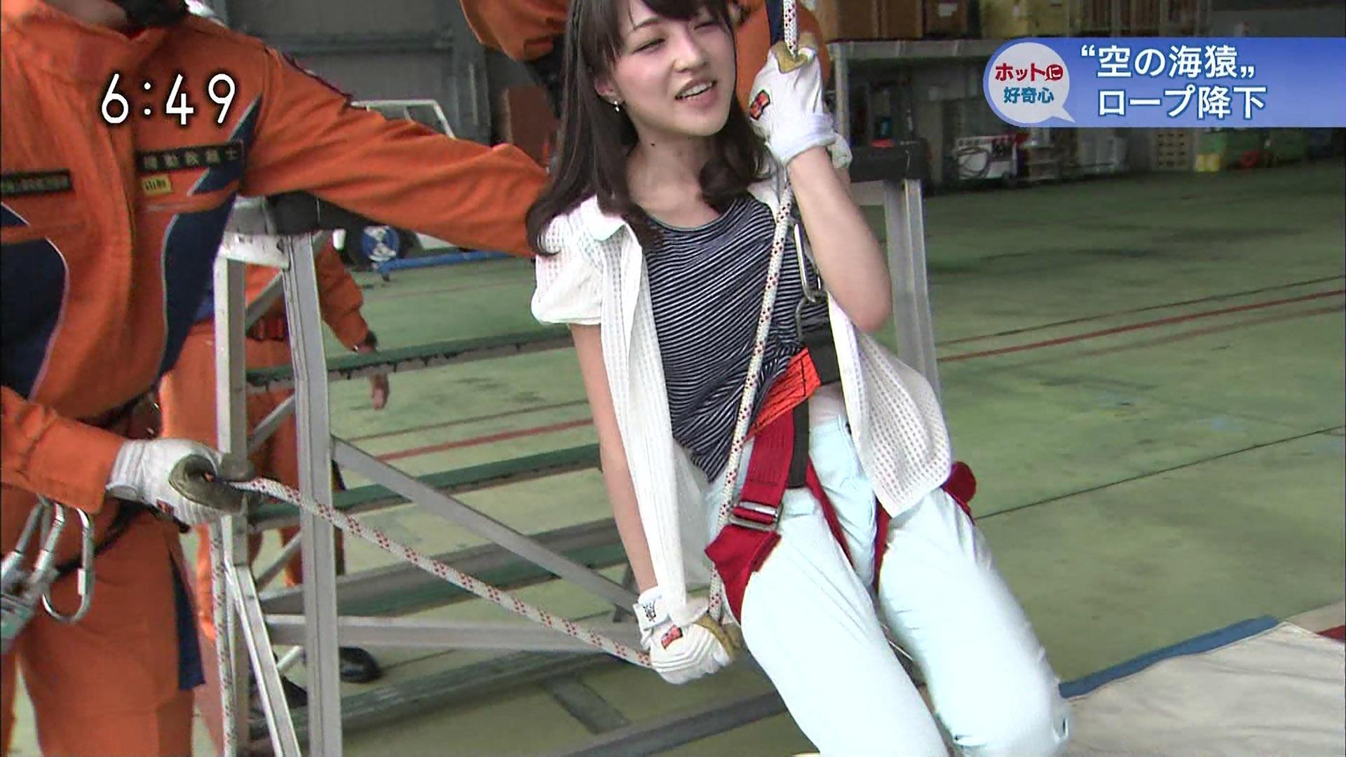 NHK・赤木野々花アナが女子アナ史上最大の股間食い込みに悶絶!!