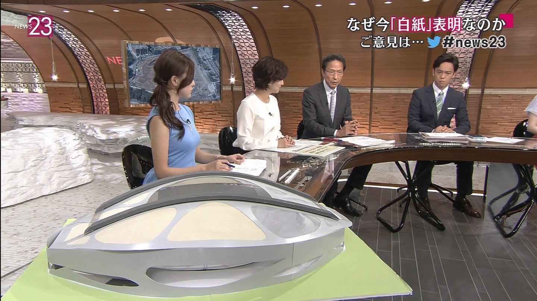膳場貴子と古谷有美 おっぱい強調衣裳!