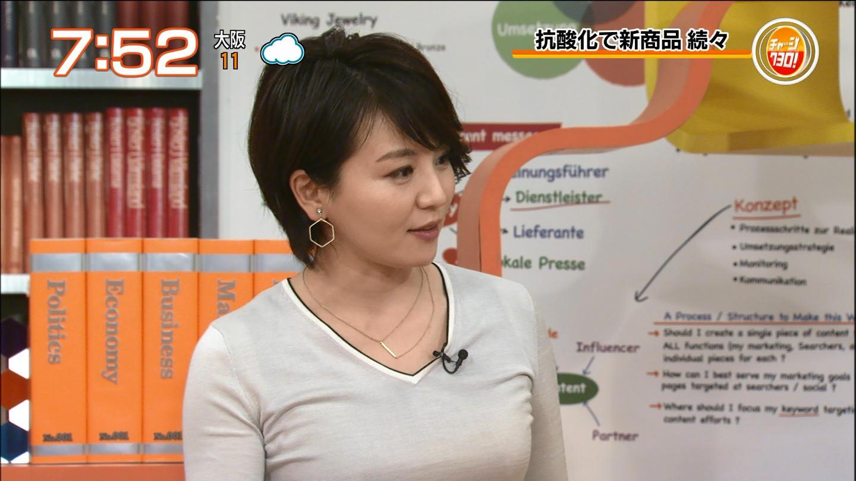 大橋未歩アナ 肌着のようなピタピタ衣装で巨乳クッキリ!!