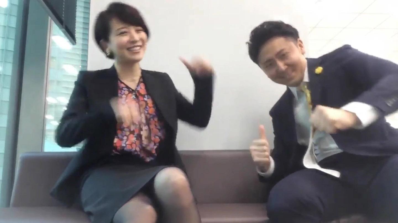 大橋未歩アナ 黒ストッキング▼ゾーン!