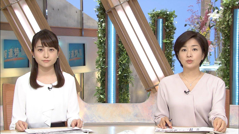 日比麻音子アナと膳場貴子アナ 報道特集