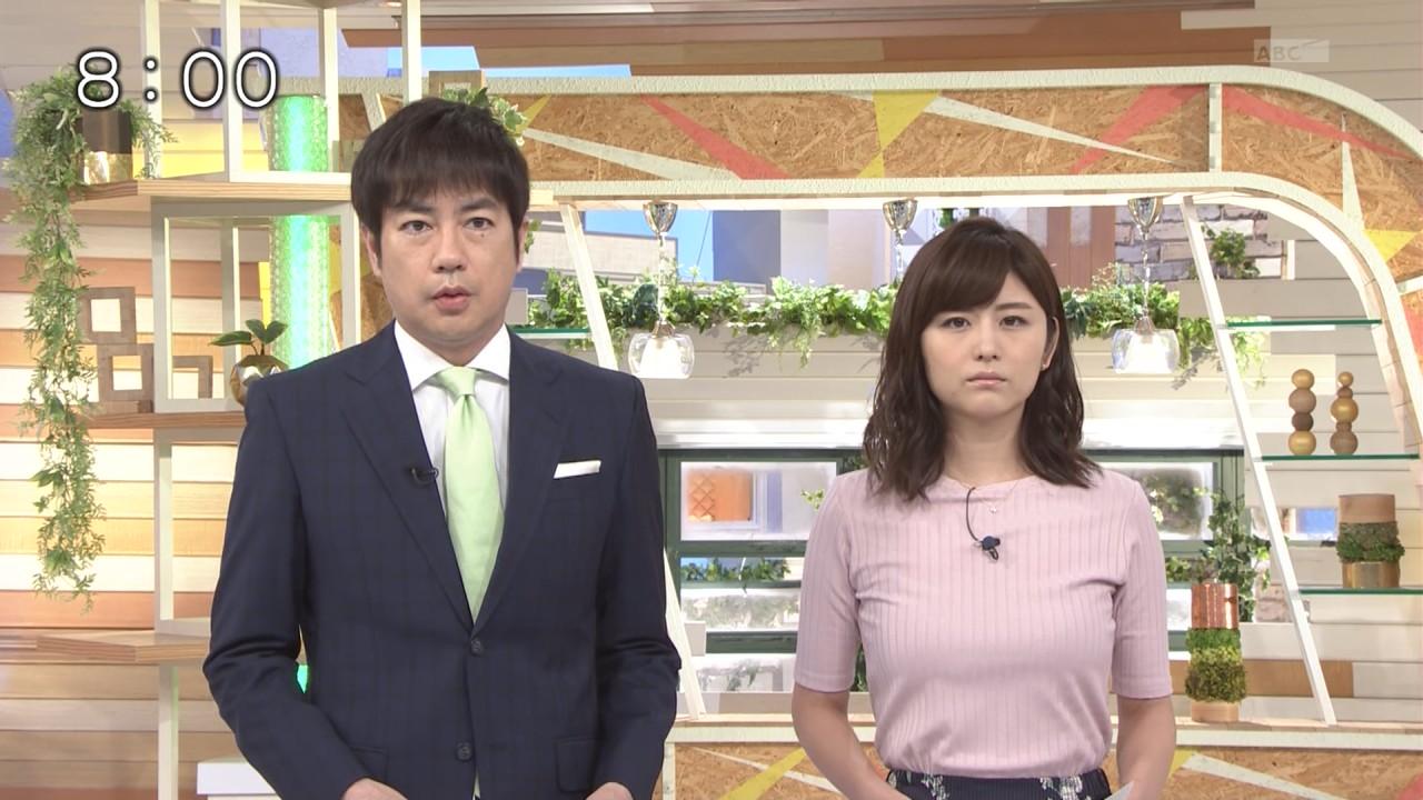 宇賀なつみアナ おっぱい強調衣装!!