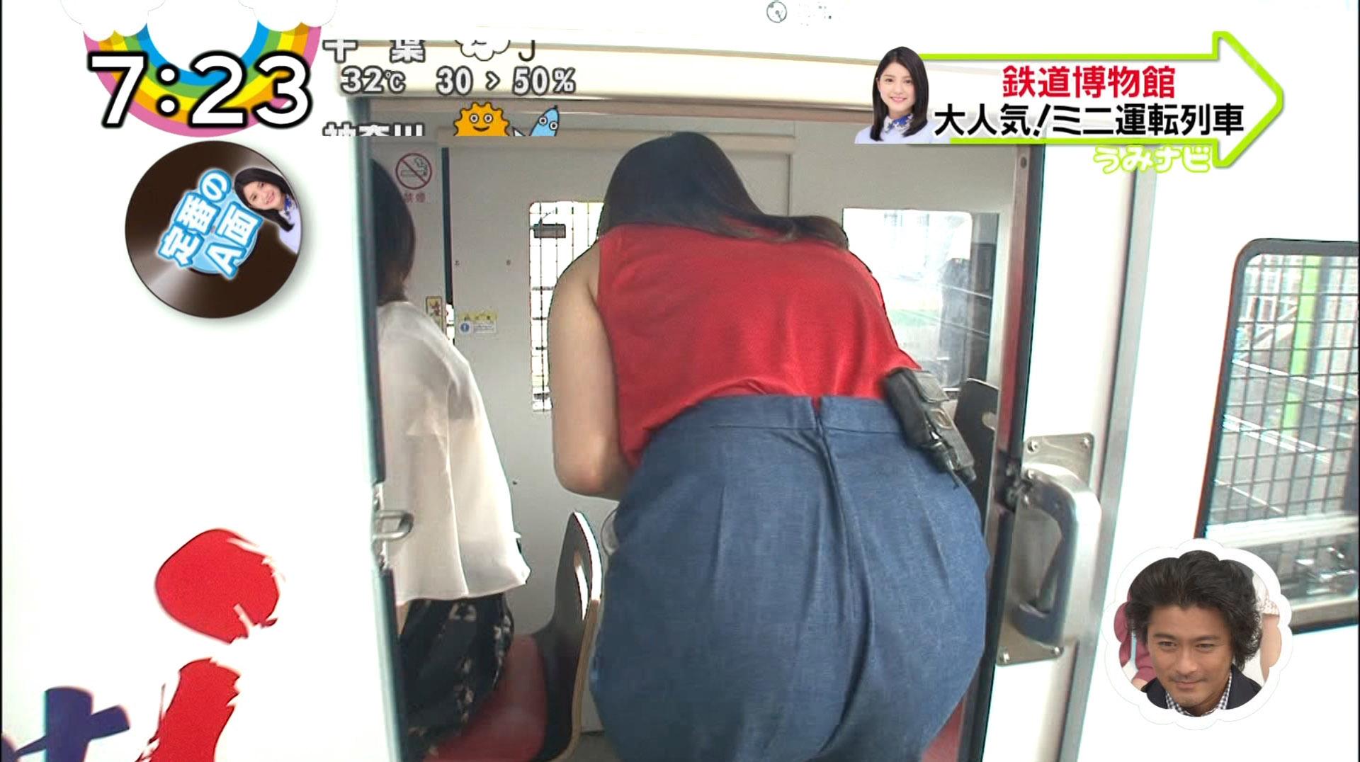 郡司恭子アナのお尻と横乳がスゴイ!!