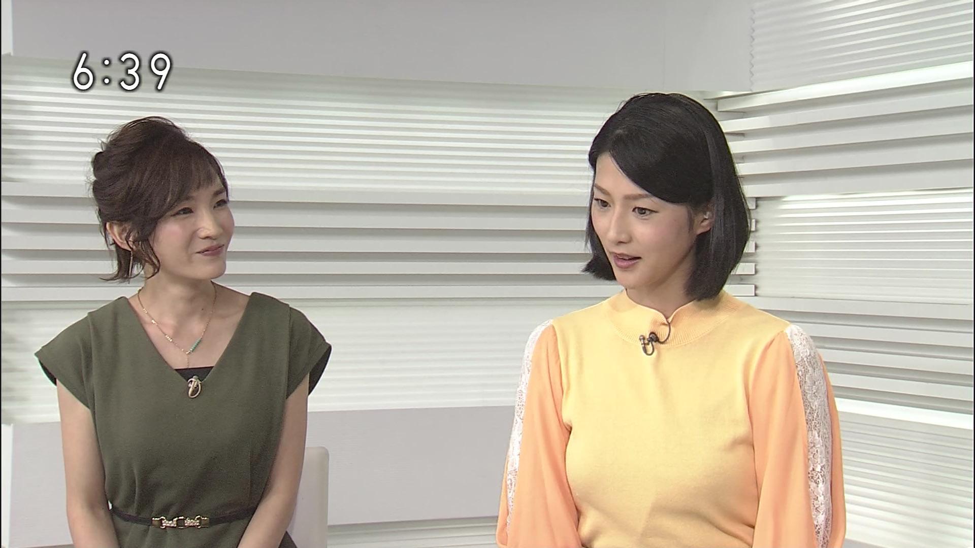 森花子アナと奥貫仁美アナ 茨城ニュースいば6