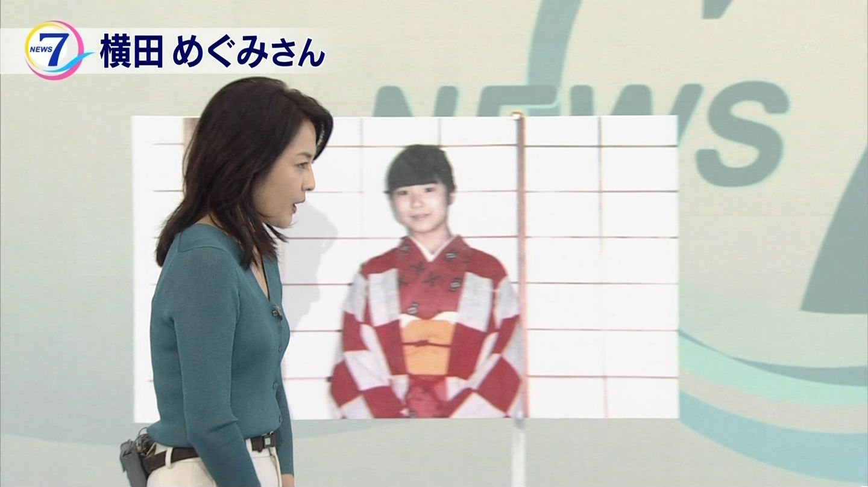 鈴木奈穂子アナ ニットの横乳とブラ線!!