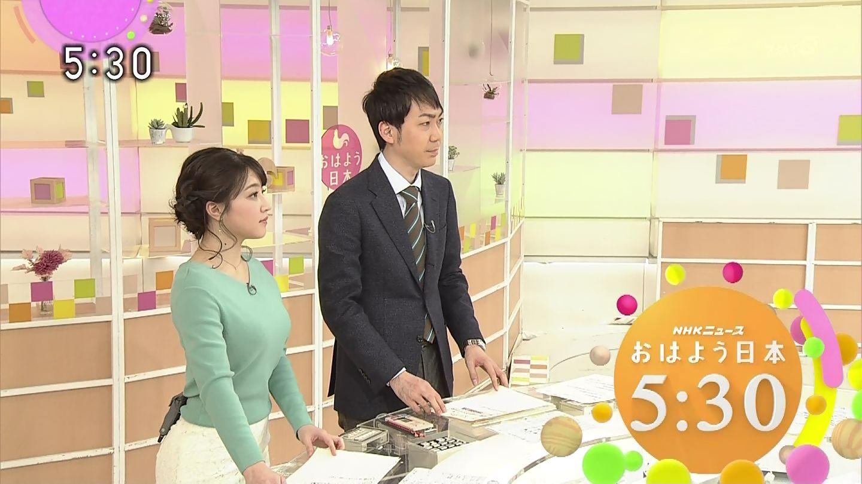 赤木野々花アナと和久田麻由子アナ 横乳! おはよう日本