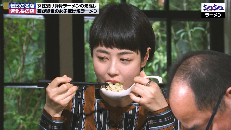 夏目三久アナ ラーメンを食べる