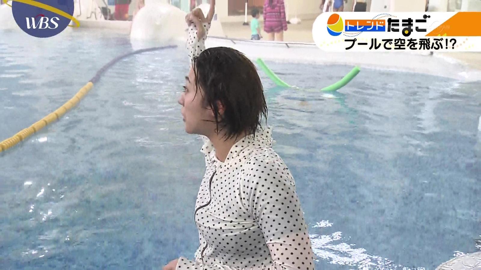 北村まあさアナの水着レポート!!【相内アナ懐かしのウエットスーツ】