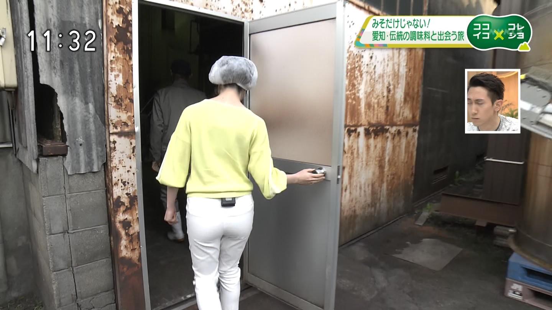 佐々木彩アナ 白いピタパン・レポート!!【尻】