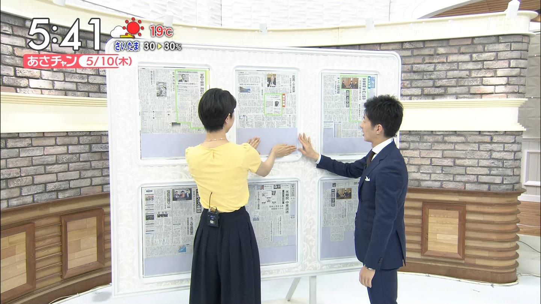夏目三久アナ 横乳と透けたインナー!