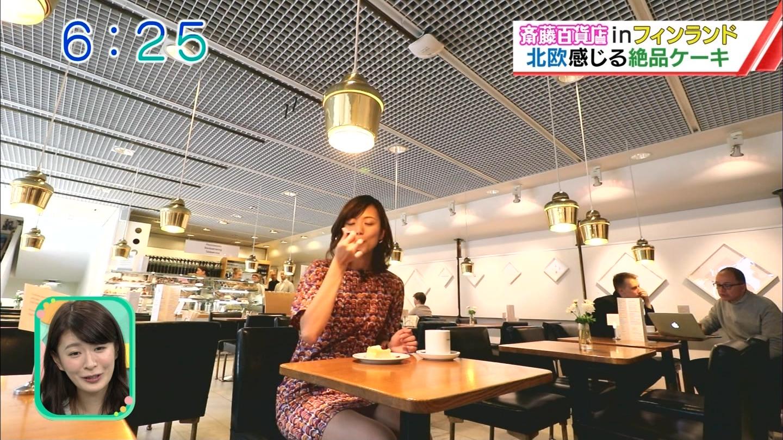 斎藤真美アナ 北欧で超ミニスカ&ノースリーブの▼ゾーン!!