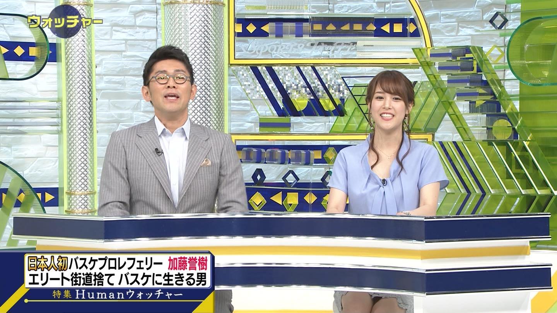 鷲見玲奈アナ 机の下の▼ゾーン!!