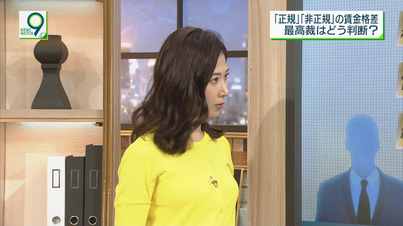 桑子真帆アナ 横乳! ニュースウオッチ9