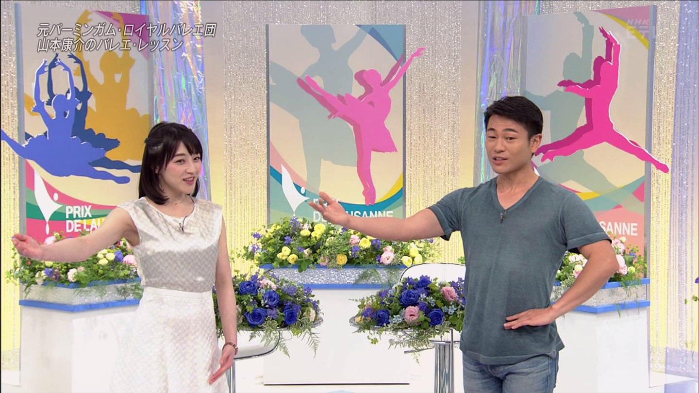 赤木野々花アナ バレエ・レッスンで脇チラ!