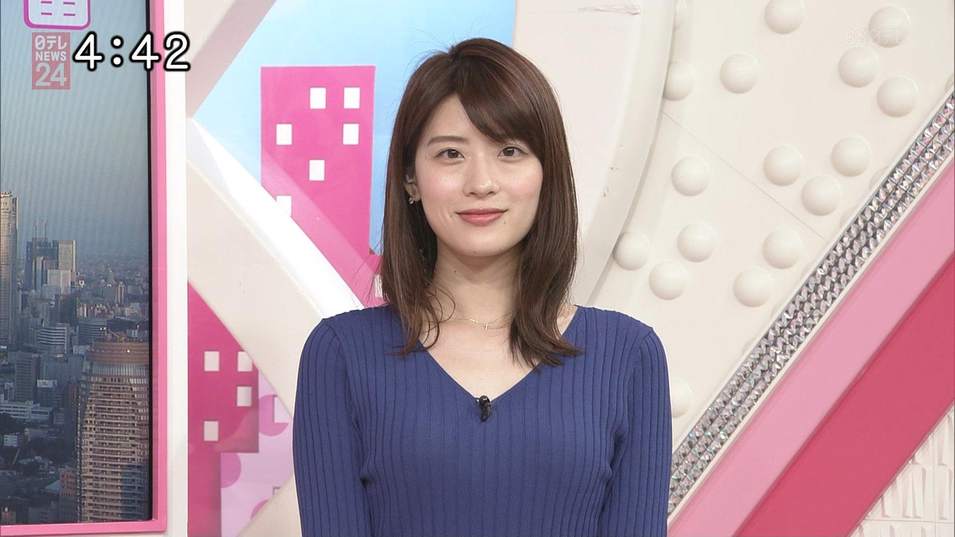 郡司恭子アナ ニット乳!