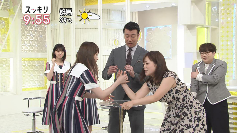 水卜麻美アナと乃木坂46が腕相撲で対決!