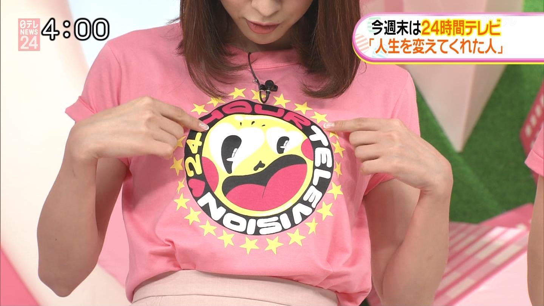 郡司恭子アナ Tシャツ乳!