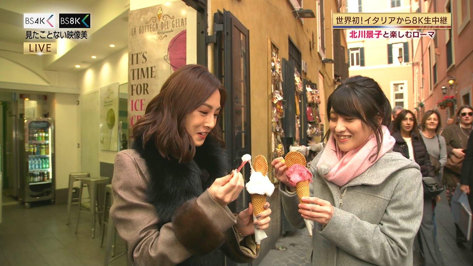 赤木野々花アナと北川景子がローマから生中継!