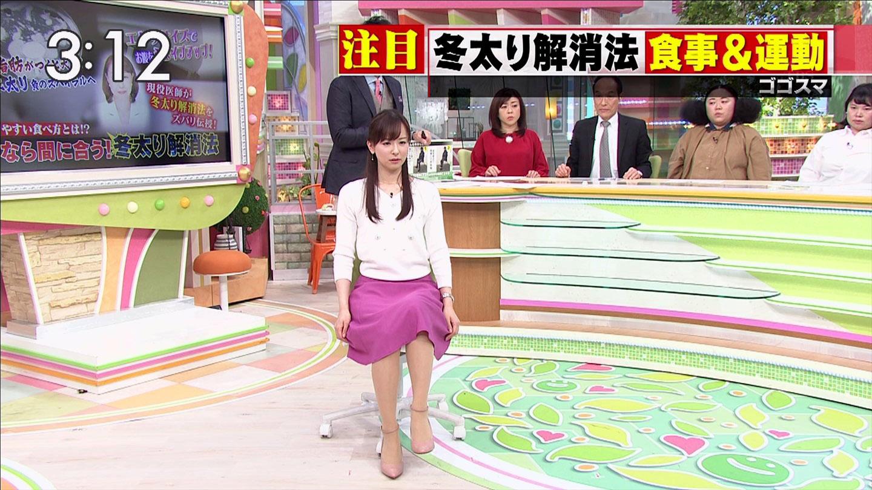 皆藤愛子アナ セーラー服とエクササイズ!