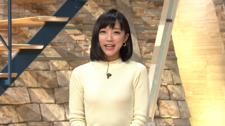 竹内由恵アナ ニット乳!
