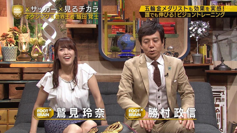 鷲見玲奈アナ ムチムチ太ももの▼ゾーン!!