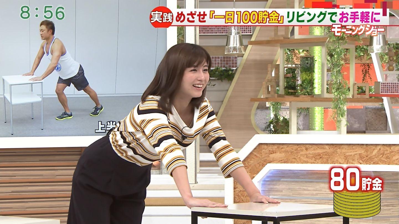 宇賀なつみアナ 斜め腕立て伏せでインナーが見えるハプニング!!
